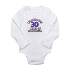 Awesome at 30 birthday designs Long Sleeve Infant