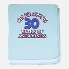 Awesome at 30 birthday designs baby blanket