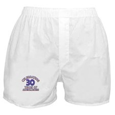 Awesome at 30 birthday designs Boxer Shorts