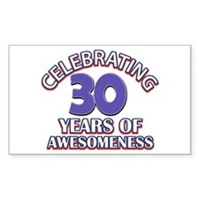 Awesome at 30 birthday designs Decal