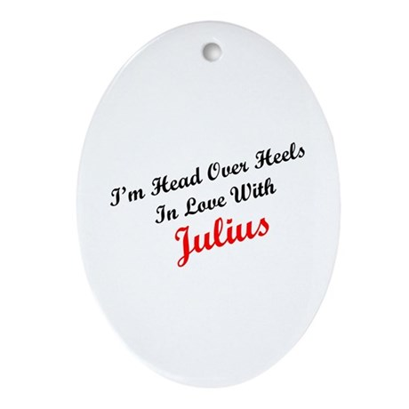 In Love with Julius Oval Ornament