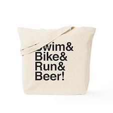 Swim-bike-beer-2 Tote Bag