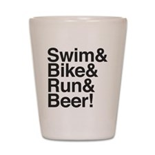 Swim-bike-beer-2 Shot Glass