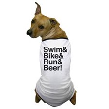 Swim-bike-beer-2 Dog T-Shirt
