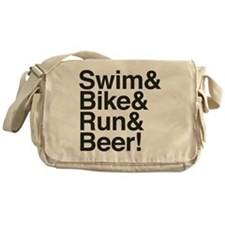 Swim-bike-beer-2 Messenger Bag