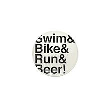 Swim-bike-beer-2 Mini Button