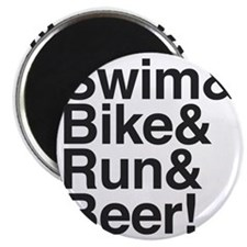 Swim-bike-beer-2 Magnet