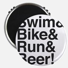 Swim-bike-beer-2 Magnet