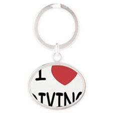 DIVING Oval Keychain