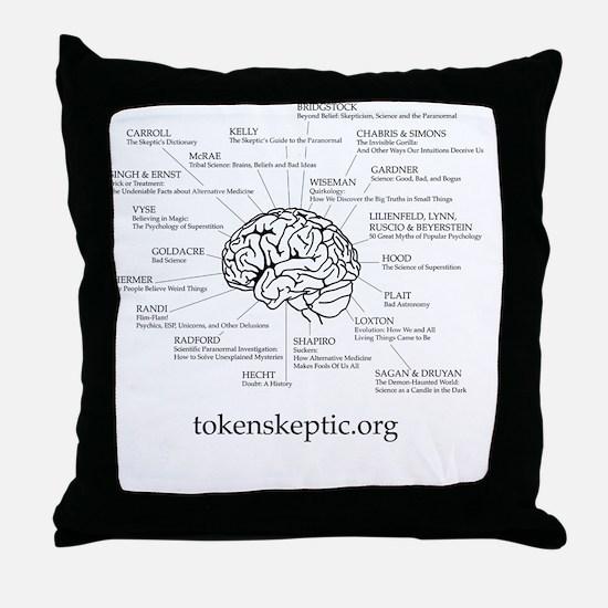 Token Skeptic Books For The Brain Throw Pillow
