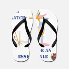 456 Cricket Duck Bowled with Essex Text Flip Flops