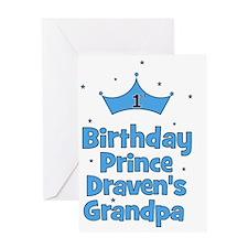 birthdayprince_1st_DRAVENsGRANDPA Greeting Card
