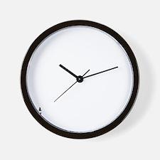 PeaceLoveTwinswhite2 Wall Clock