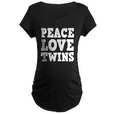 PeaceLoveTwinswhite2 T-Shirt
