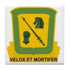 18th Cavalry Regiment Tile Coaster