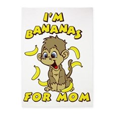 I'm Banana's For Mom 5'x7'Area Rug