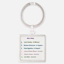 In Memory and In Honor Square Keychain