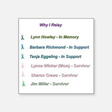 """In Memory and In Honor Square Sticker 3"""" x 3"""""""
