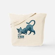 Token Skeptic Curls and Line Cat Tote Bag