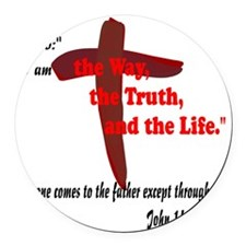The Way, The Truth, and the Life. Round Car Magnet