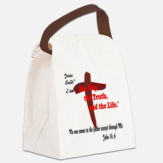 The Way, The Truth, and the Life. Canvas Lunch Bag