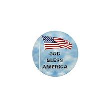 God Bless America 6 Mini Button