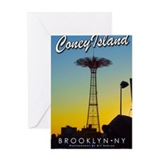 Poster-Coney-Parachute Greeting Card
