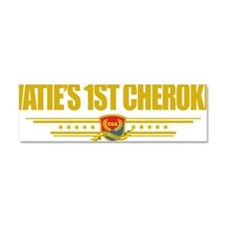 Waties 1st Cherokee (Flag 10) po Car Magnet 10 x 3
