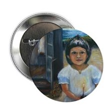 """Easter girl final square 2.25"""" Button"""