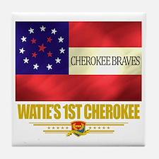 Waties 1st Cherokee (Flag 10) Tile Coaster