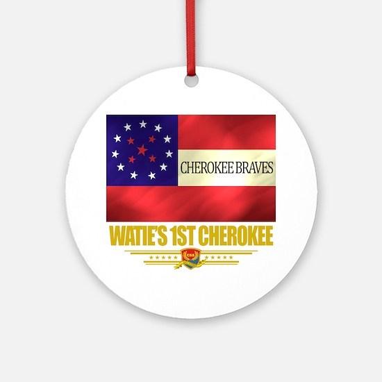 Waties 1st Cherokee (Flag 10) Round Ornament