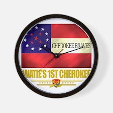 Waties 1st Cherokee (Flag 10) Wall Clock