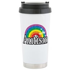 Autism-Rainbow-2-blk Travel Coffee Mug