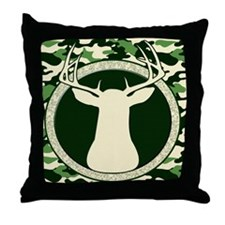 ipad2 camo buck Throw Pillow