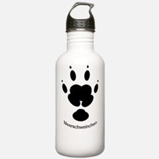 4 Toed Paw Print GER L Water Bottle