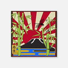 "JAPAN Square Sticker 3"" x 3"""