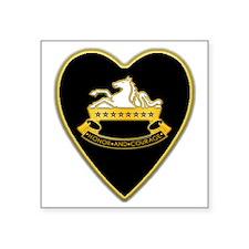 "8th-Cavalry-Heart-neckless Square Sticker 3"" x 3"""