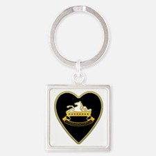 8th-Cavalry-Heart-neckless Square Keychain