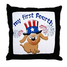 firsst-fourth Throw Pillow