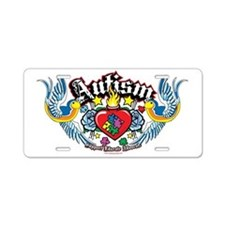 Autism-Bird-and-Heart-Tatto Aluminum License Plate