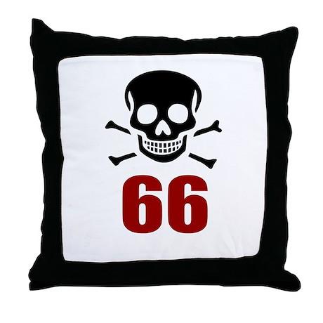 66 Birthday Designs Throw Pillow