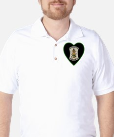 219th-RAC-Heart-neckless Golf Shirt