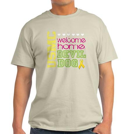 home devil dog yellow ribbon Light T-Shirt
