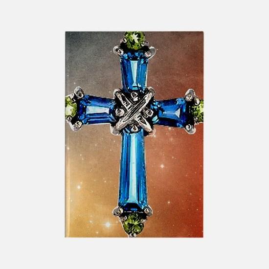 Blue_Cross_Stars_78_iPad Rectangle Magnet