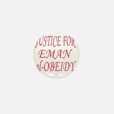 justice for eman darker pink copy Mini Button