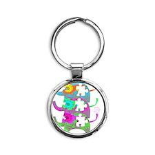 autistic_27 Round Keychain