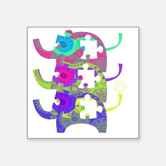 """autistic_28 Square Sticker 3"""" x 3"""""""