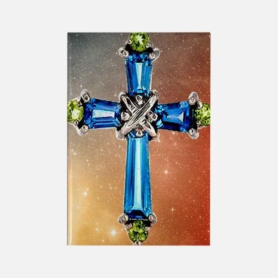 Blue_Cross_Stars_73_iPhone_4_Slid Rectangle Magnet