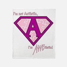 AWEtistic - pink - transp Throw Blanket