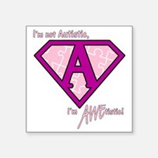 """AWEtistic - pink - transp Square Sticker 3"""" x 3"""""""